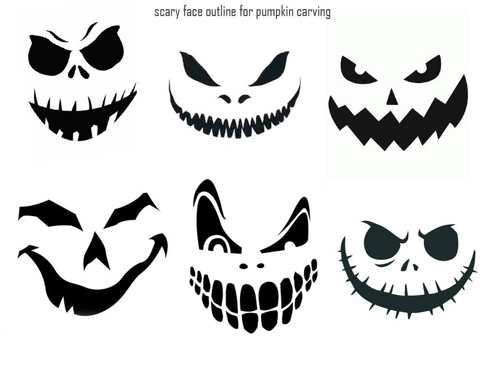 6 Images of Free Printable Pumpkin Stencils Halloween