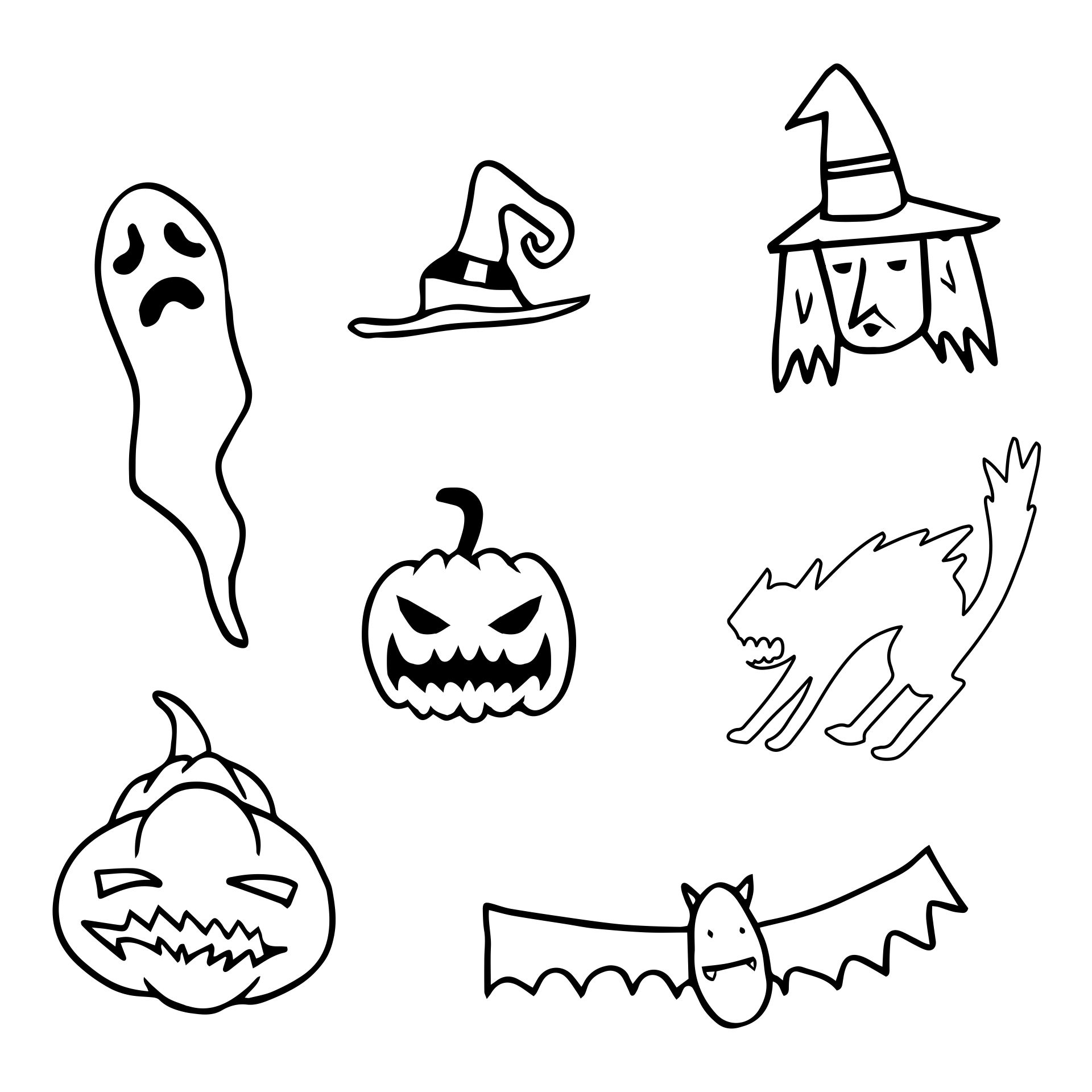 Printable Halloween Stencils for Kids