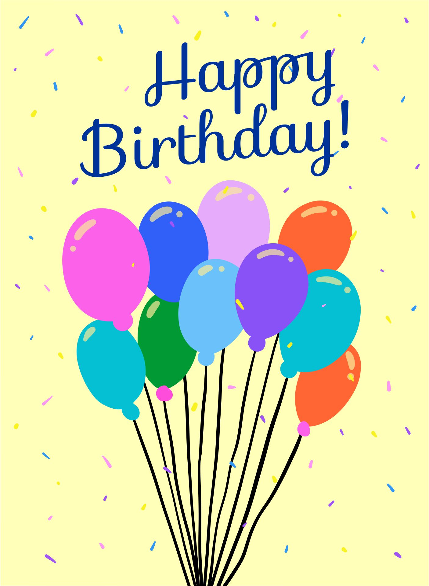 Free Printable Happy Birthday Card for Man