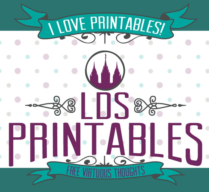 4 Images of LDS Nursery Printables