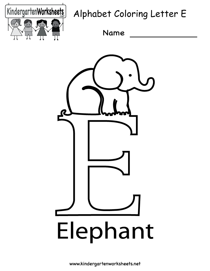 Letter homework kindergarten – Letter Worksheets for Kindergarten