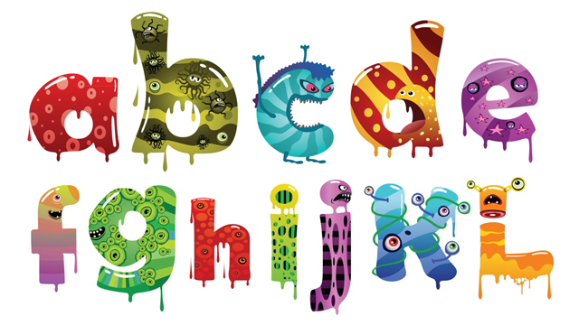 6 Images of Printable Monster Letters Alphabet