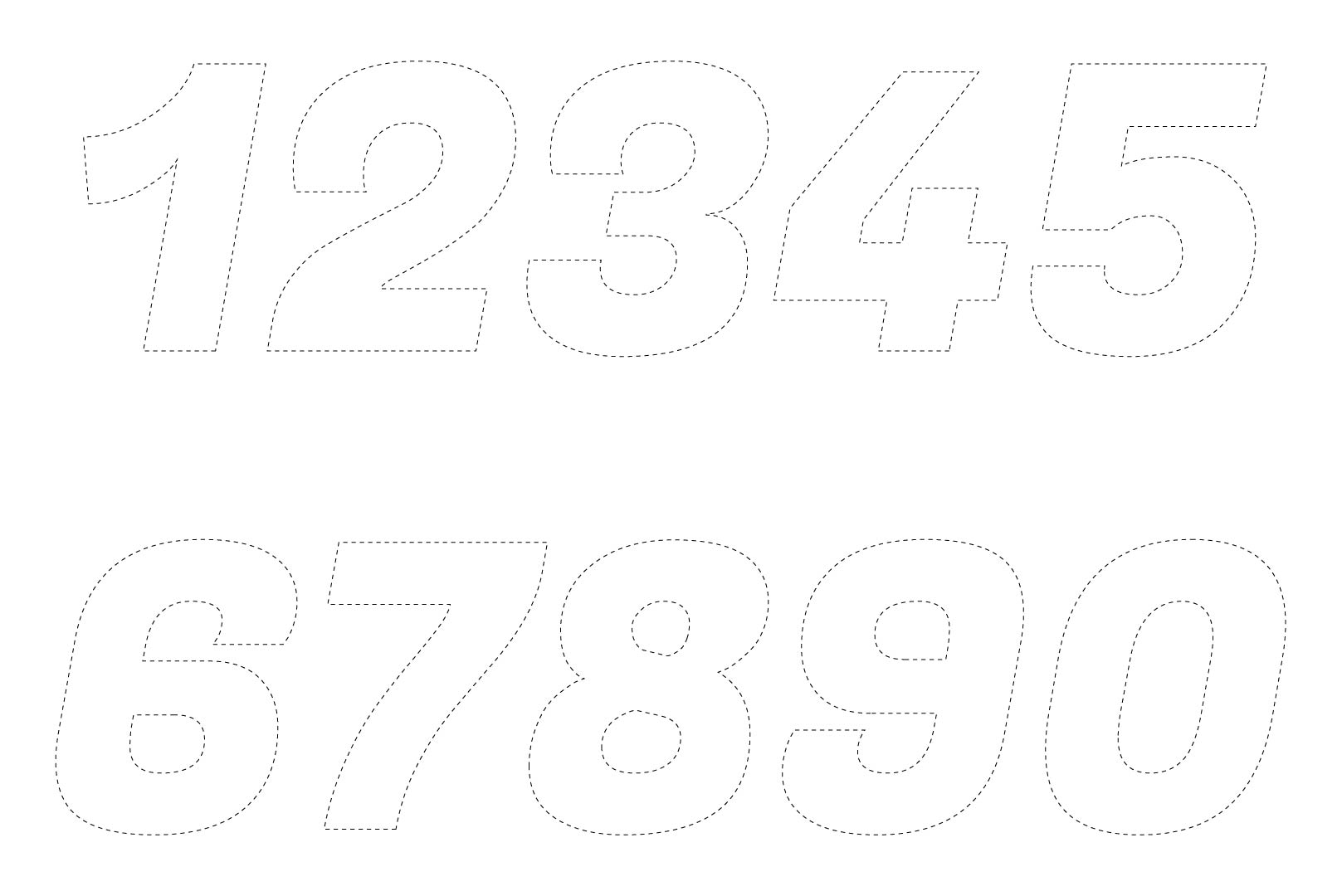 5 Images of Large Printable Cut Out Numbers