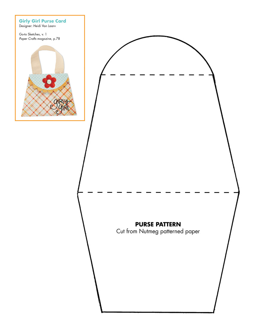 5 Images of Printable Purse Template