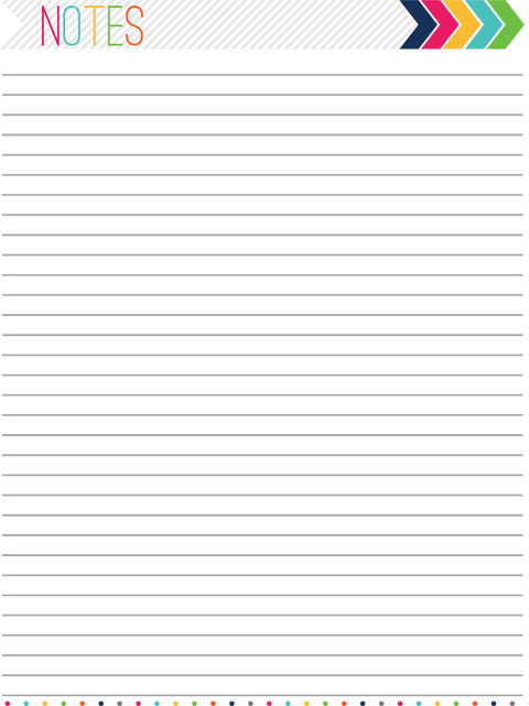 Free Printable Planner Notes Page