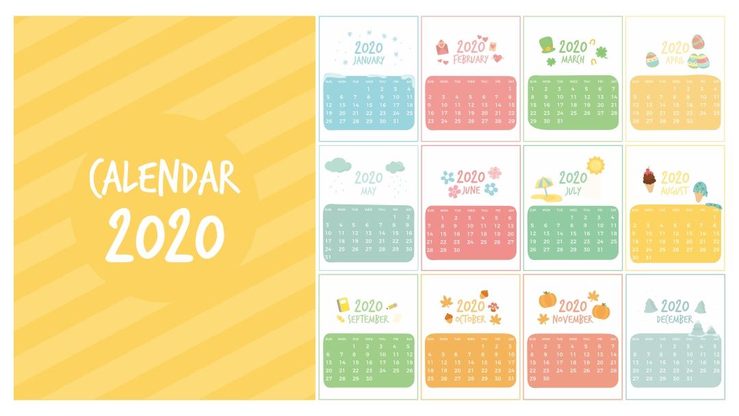 Printable Preschool Calendar Template