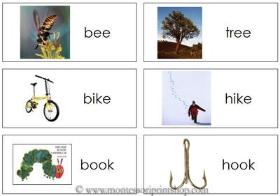 5 Images of Rhyming Words Flash Card Printables