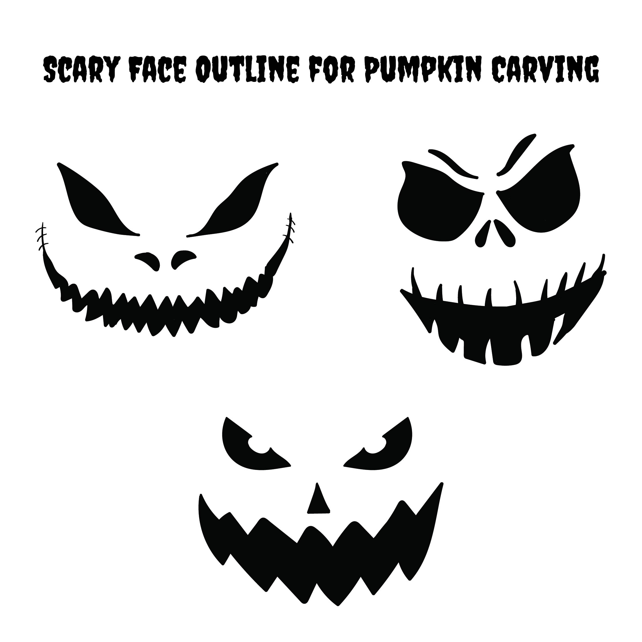 Printable Scary Pumpkin Carving Stencils