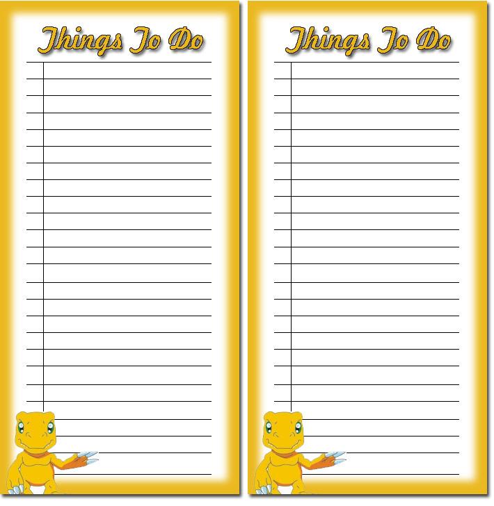 Printable to Do List Template