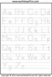 Free Printable Tracing Letters A-Z Worksheets
