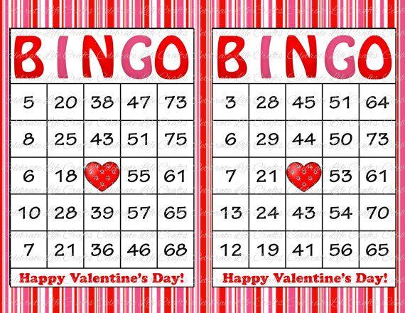 6 Images of Valentine Cookie Bingo Card Printable