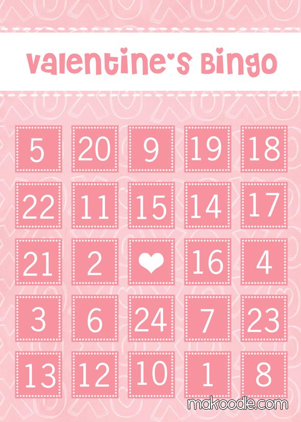 5 Images of Free Printable Valentine Bingo Cards