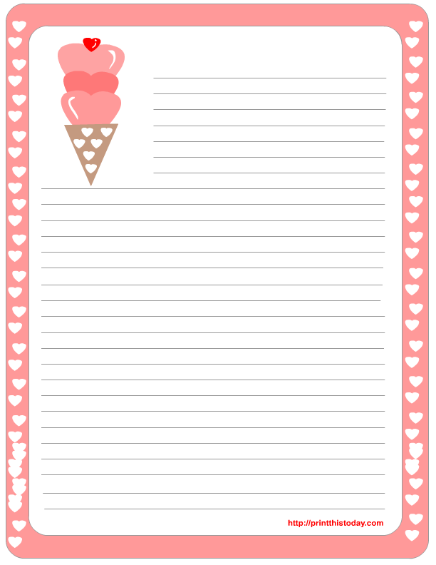 8 Images of Printable Stationery Templates