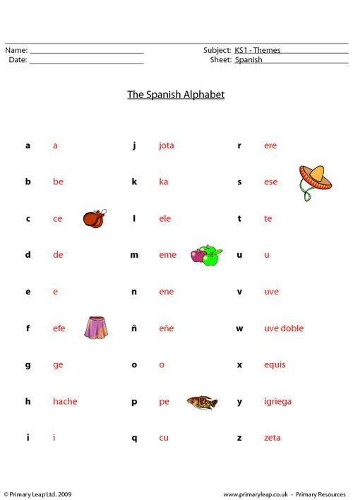 Free Spanish Alphabet Worksheets