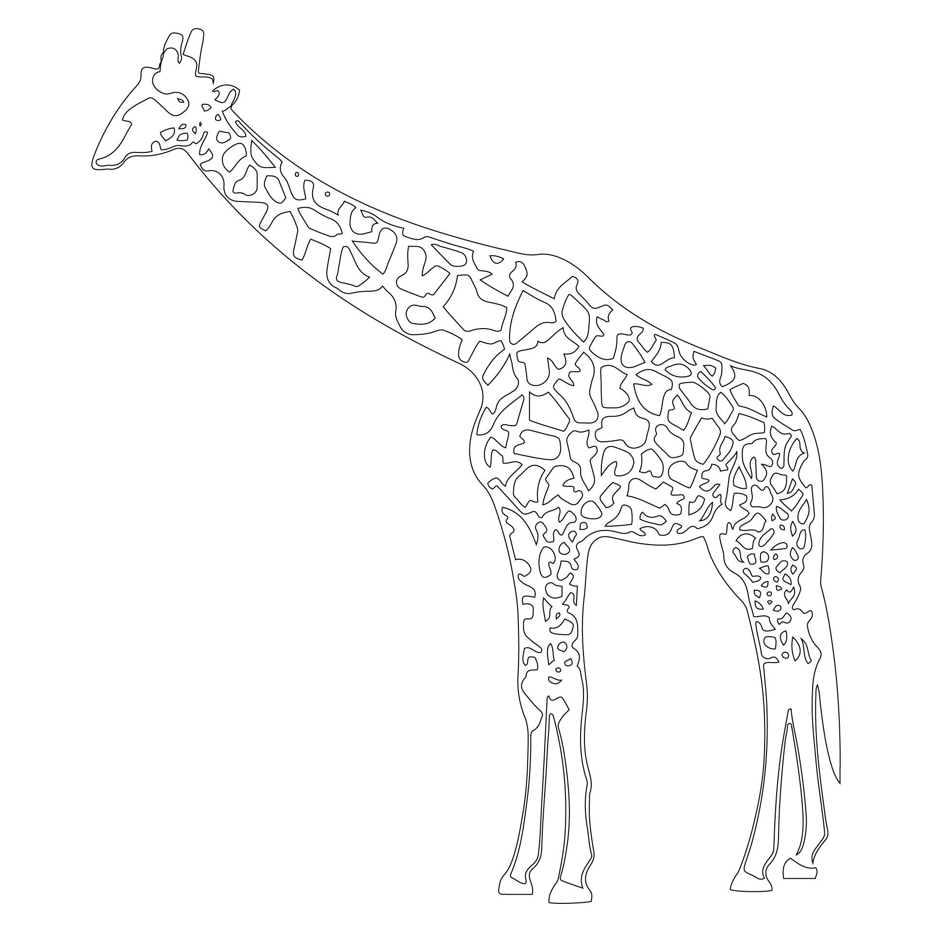 Giraffe Template Printable