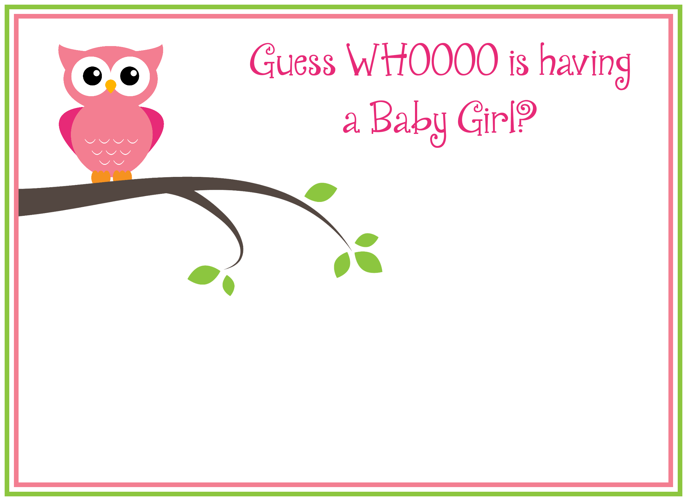 5 Images of Owl Baby Shower Free Printables