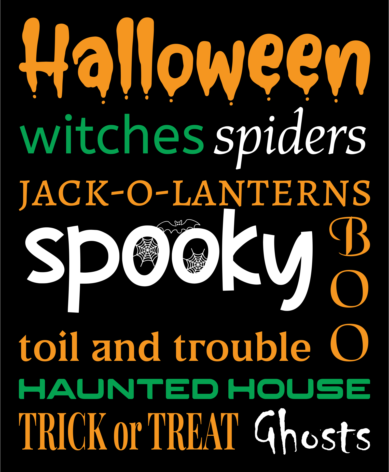 Halloween Subway Art Printable