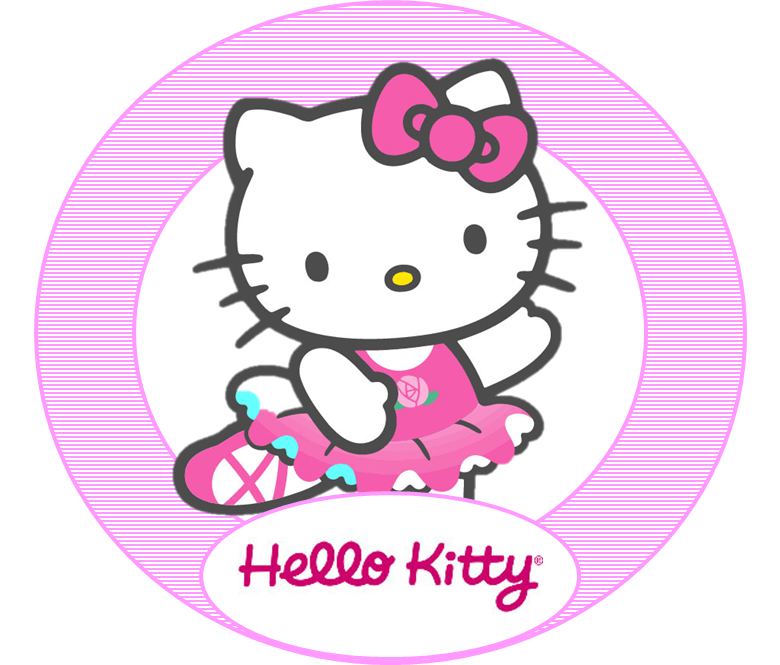 8 best images of free printable hello kitty face hello for Hello kitty cupcake topper template