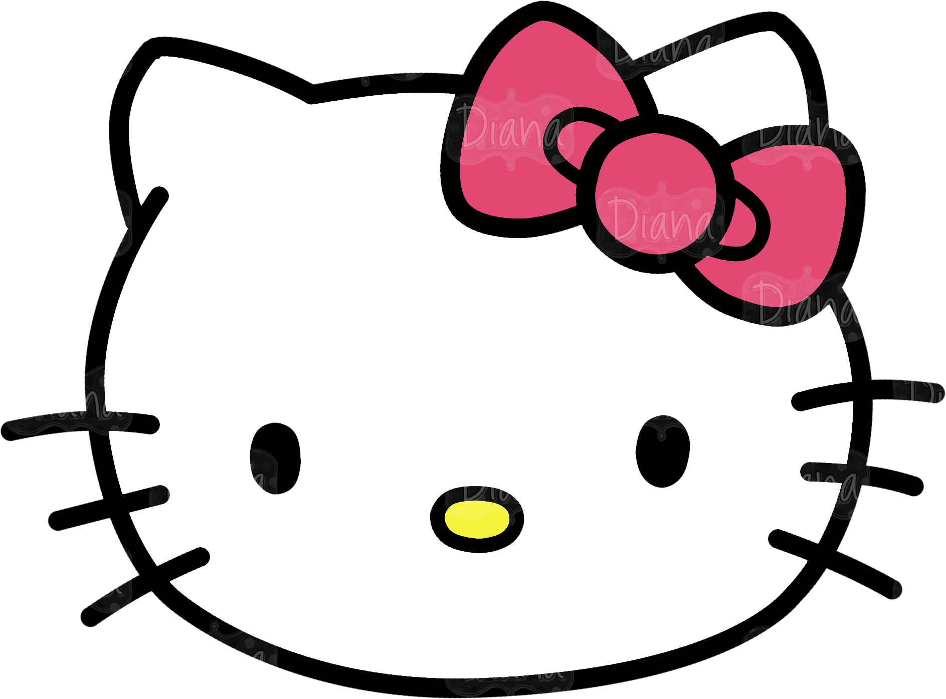 8 best images of free printable hello kitty face hello for Hello kitty mask template