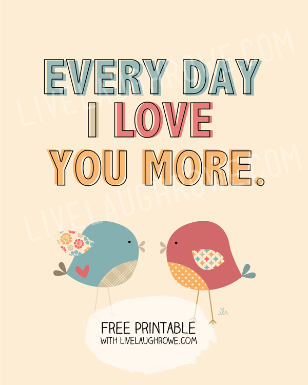 4 Images of Free Printable I Love You More