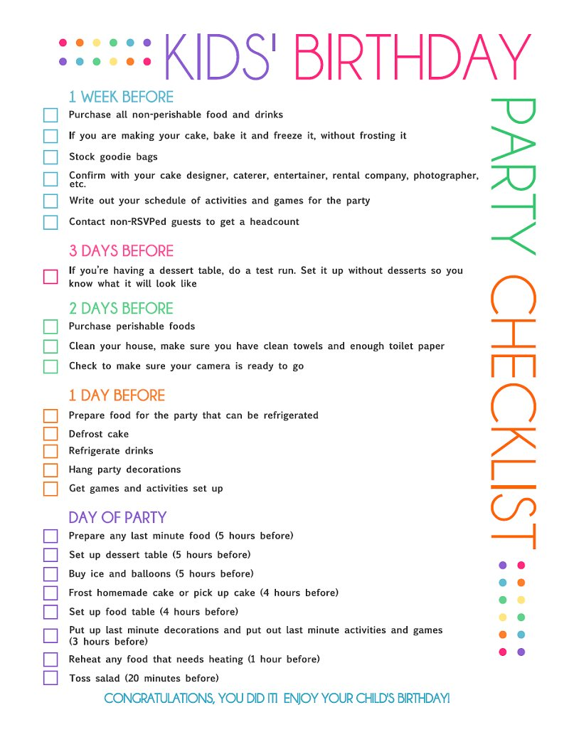 8 Best Images of Party Printable Birthday List - Free ...