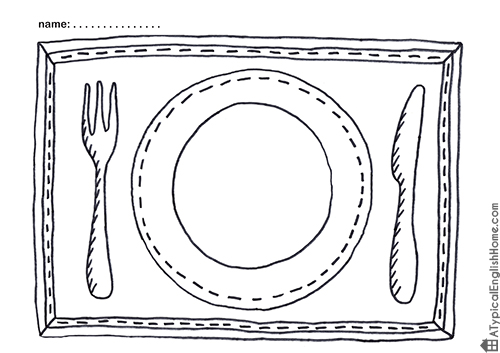 5 Images of Printable Placemats For Preschoolers