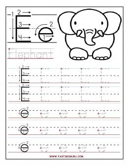 Letter E Tracing Worksheets Preschool