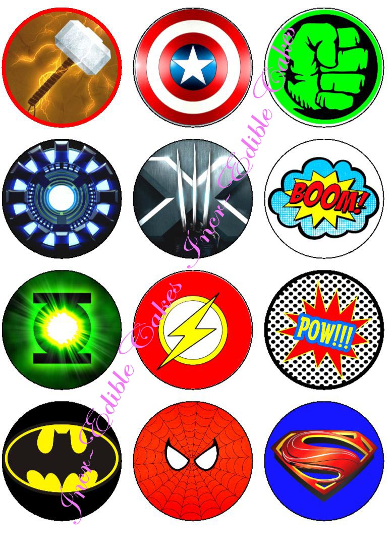 4 best images of printable superhero symbols printable