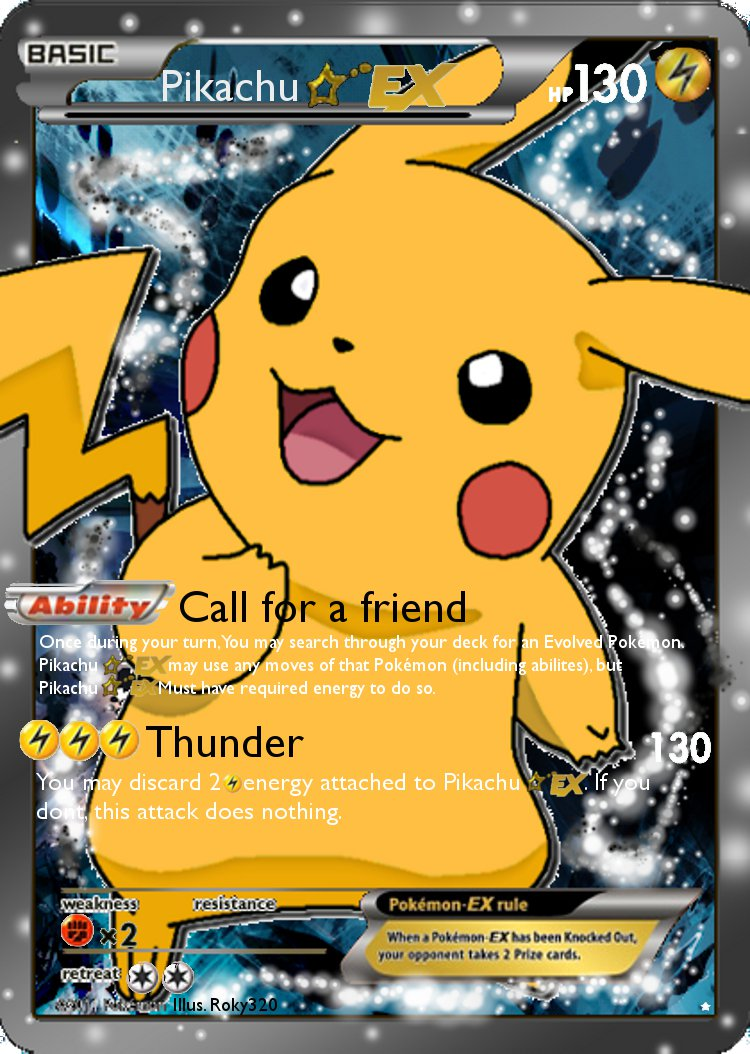 8 Images of Printable Pokemon Cards Pikachu