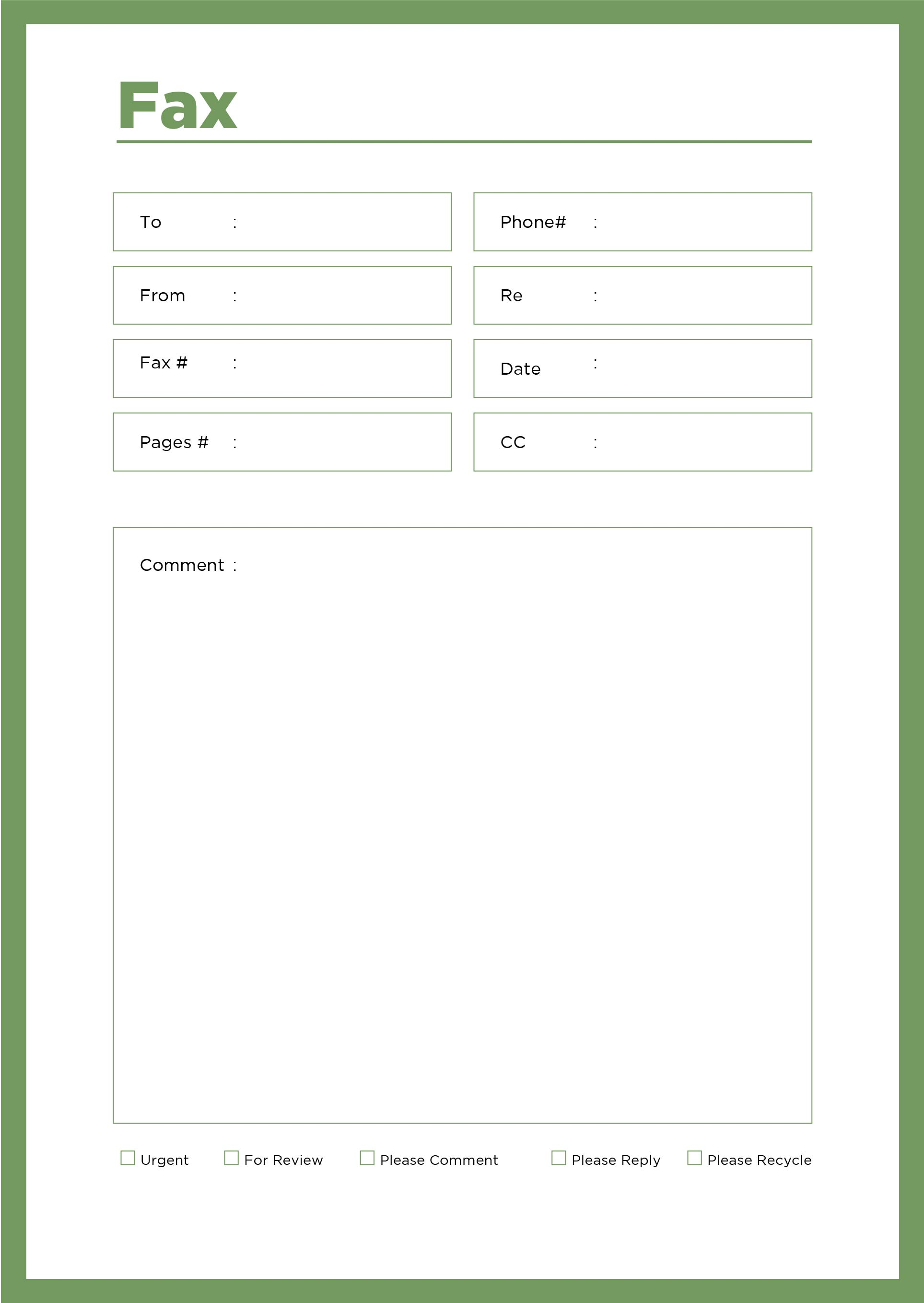 fax cover sheet template microsoft Template – How to Format a Fax