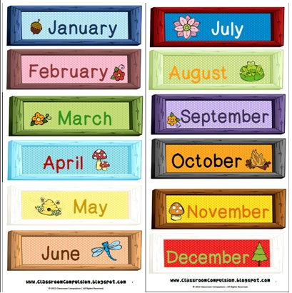 8 Images of Printable Month Labels