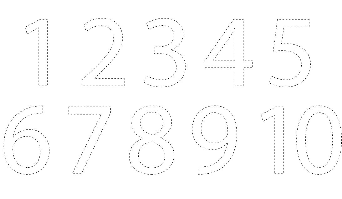 Number Cut Out Templates