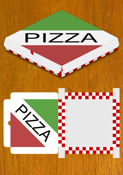4 Images of Pizza Box Template Printable
