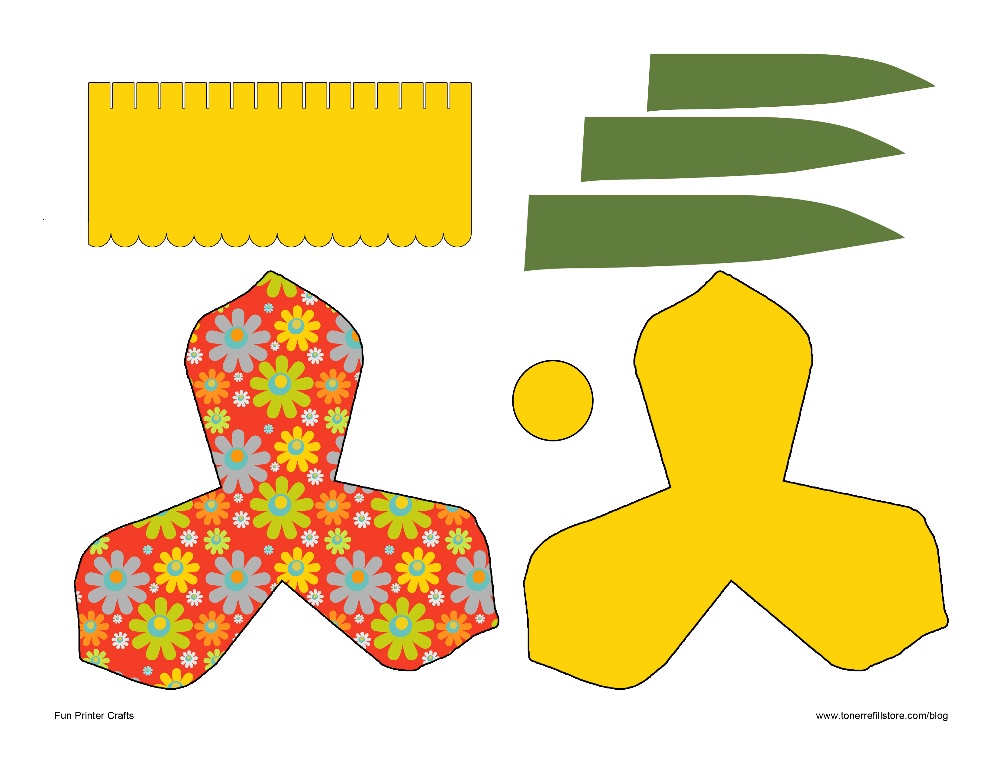 free craft templates to print - 7 best images of 3d flowers templates printables paper