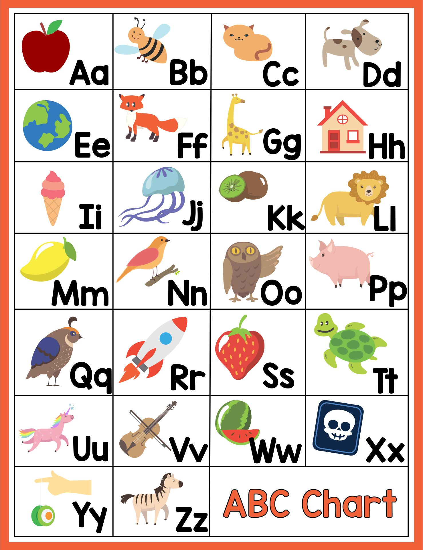 Printable ABC Chart with Pictures