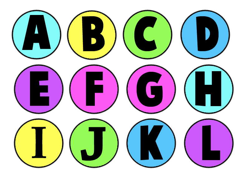 4 Images of Printable Alphabet Letters To Color