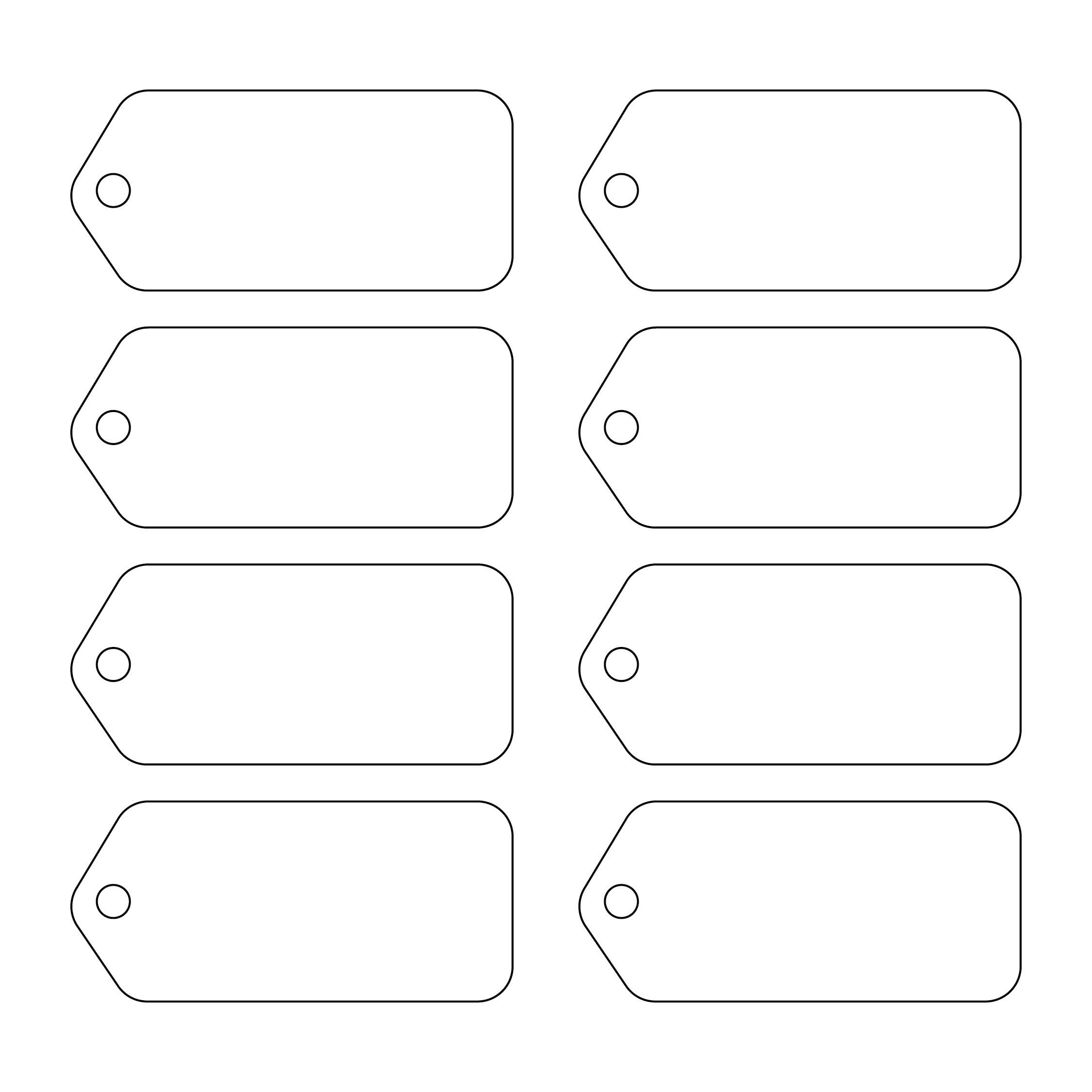 Printable Blank Gift Tags Template