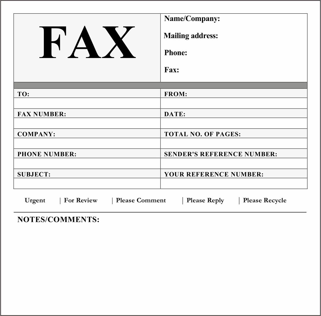 21 Best Printable Fax Cover Sheet - printablee.com In Fax Cover Sheet Template Word 2010