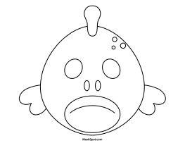 8 Best Images Of Fish Mask Template Printable