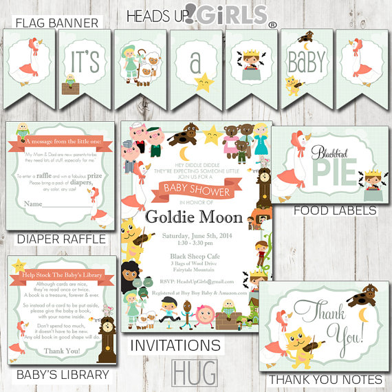 4 Images of Mother Goose Nursery Rhymes Printable