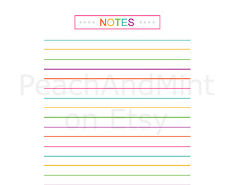 Printable Notes Page PDF