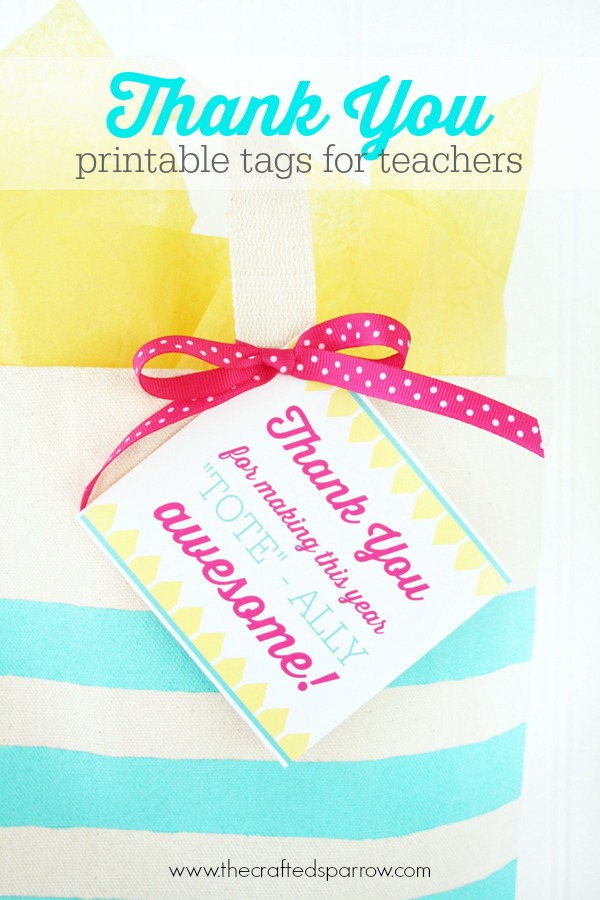 8 Images of Teacher Thank You Tags Printable