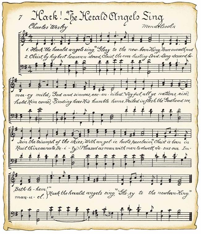 Printable Vintage Christmas Music