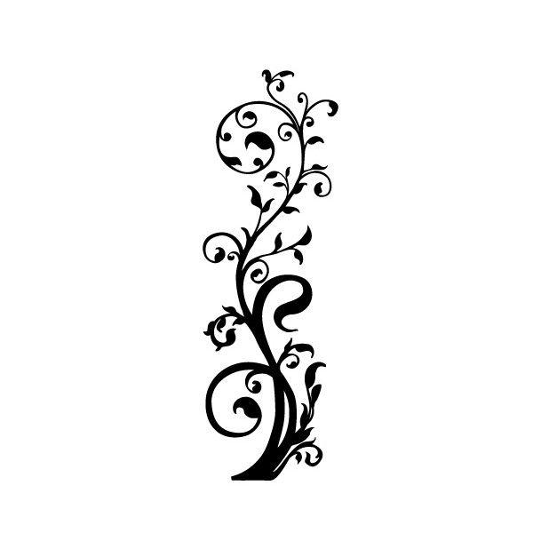 5 Images of Flower Vine Stencils Printable