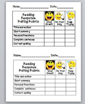 6 Images of Reading Journal Printables
