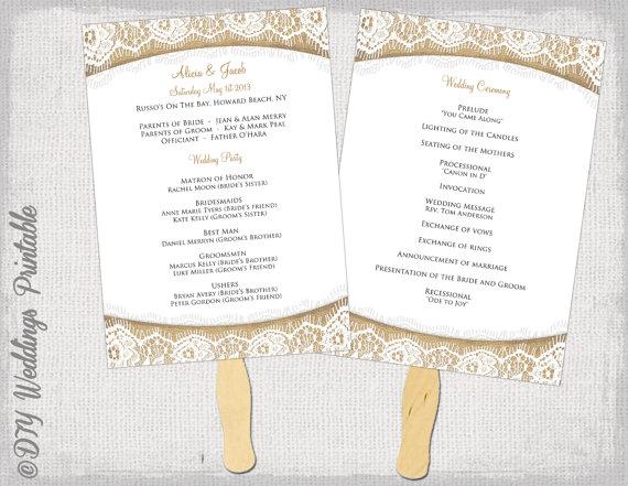 7 best images of rustic wedding ceremony program template free printable diy printable wedding