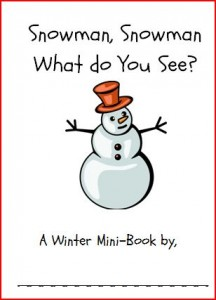 4 Images of Snowman Mini Book Printable