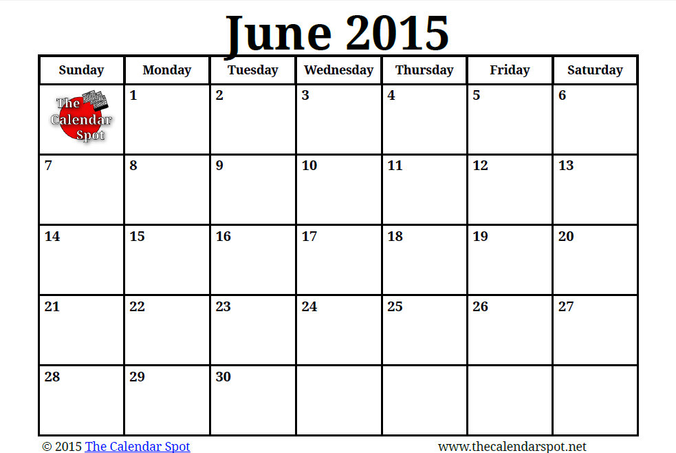 Blank Calendar Summer : Best images of summer calendar printable blank