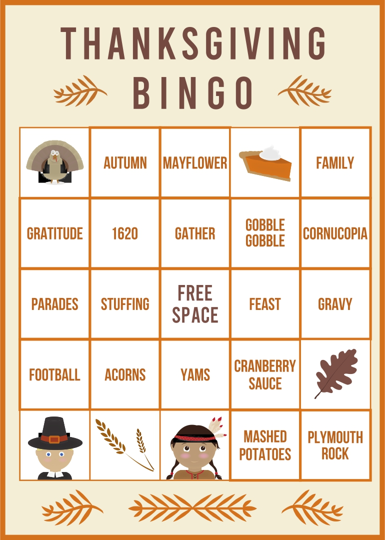 4 Images of Printable Thanksgiving Games For Family