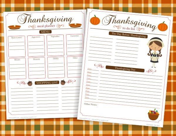 party menu planner template
